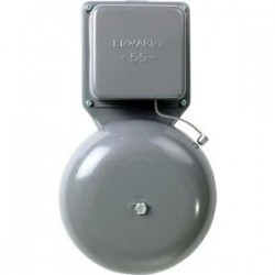 Edwards Signaling - 556G5 - Edwards 55-6G5 Vibrating Bell, 24 VAC, Diameter: 6, 0.20A, Gray