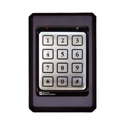 Essex Electronics - K1-34K - Essex Electronics K1 Series 12 pad 3x4 Keypad w/ Black Bezel - Mechanical Key - 502 User(s) - 24 V DC