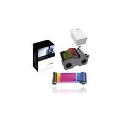 HID Global / Assa Abloy - 044230 - Fargo Ribbon Cartridge - YMCKO - Dye Sublimation, Thermal Transfer - 250 Images