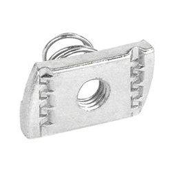 Garvin Industries - SNSS3816 - Garvin Short Spring Nut For 3/8-16 Rod - Spring Nut - 1 Pack