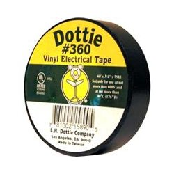 L.H. Dottie - 360 - L.H. Dottie PC 5350 Economy PVC Tape - 0.75 Width x 60 ft Length - 7 mil - 10 / Pack - Black