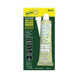 L.H. Dottie - RTV3 - L.H. Dottie RTV Silicone Sealant Tube PC 6200 - Silicone - Clear