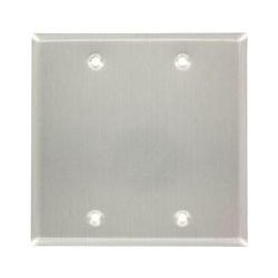 Leviton - 83025-EXT - Leviton 83025-EXT Blank Faceplate - 2-gang - Gray