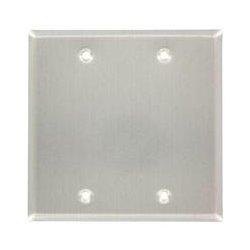 Leviton - 83025-EXT - Leviton 83025-EXT Blank Faceplate - 2-gang - Gray