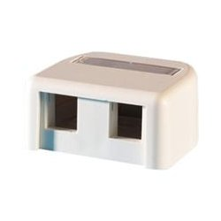 Ortronics - OR-KSSMB2 - Ortronics OR-KSSMB2 Two Port TechChoice Surface Mount Box Fog White