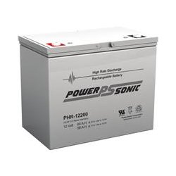 Power-Sonic - PHR-12200 - Power-Sonic PHR-12200 Battery Unit - 60000 mAh - 12 V DC - Sealed Lead Acid (SLA) - Maintenance-free - 10 Year Maximum Battery Life