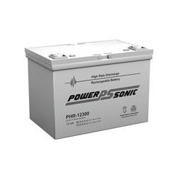 Power-Sonic - PHR-12300 - Power-Sonic PHR-12300 Battery Unit - 80000 mAh - 12 V DC - Sealed Lead Acid (SLA) - Maintenance-free - 10 Year Maximum Battery Life