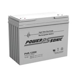 Power-Sonic - PHR-12500 - Power-Sonic PHR-12500 Battery Unit - 154000 mAh - 12 V DC - Sealed Lead Acid (SLA) - Maintenance-free - 10 Year Maximum Battery Life