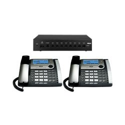 RCA - 25800 - 25800 Eight-Line Corded Office Phone System, Router and 2 Corded Base Stations