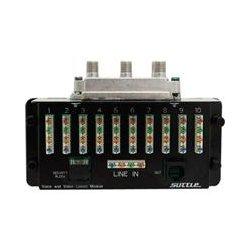 Suttle - SAMVV4 - Suttle VOICE: 4-line input, 10 output - 3 GHz, 2.40 GHz - 1 GHz, 5 MHz to 3 GHz, 2.40 GHz - Network (RJ-45)