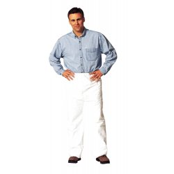 DuPont - TY350SWH4X005000 - Disposable Pants, 4XL, White, Tyvek 400 Material, PK 50