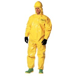 DuPont - BR127TYLSM000200 - Hooded Chemical Resistant Coveralls with Elastic Cuff, Yellow, S, Tychem 9000
