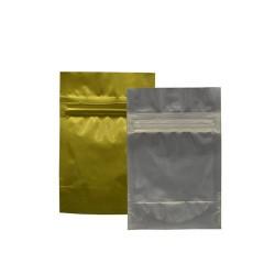 Ampac Flexibles - SP4-801EZ-500 - 6 x 4 4.50 mil Foil, Polyethylene Terephthalate (PET) Reclosable Poly Bag, Clear, Gold; PK500