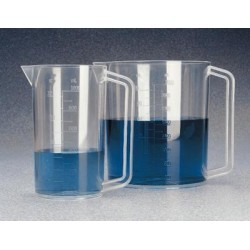Thermo Scientific - 1223-1000 - Thermo Scientific Nalgene 1223-1000 PMP Graduated Beaker w/ Handle, 1000 mL