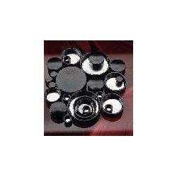Berlin Packaging - CAP-00234 - Black Phenolic Screw Caps, Pulp/Tinfoil Liner, Qorpak (Pack of 12)