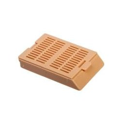 Bio Plas - 6055 - Histo Plas Uni-Capsette, with detachable plastic lids, tan, 500 per box, by Bio Plas