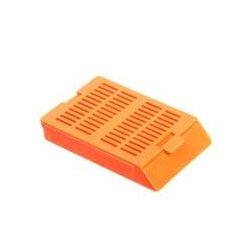 Bio Plas - 6056 - Histo Plas Uni-Capsette, with detachable plastic lids, burnt orange, 500 per box, by Bio Plas
