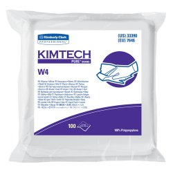 "Kimberly-Clark - 33330 - Kimberly-Clark Professional* KIMTECH PURE* W4 12"" X 12"" White Polypropylene Disposable Critical Task Dry Wiper (100 Per Bag, 5 Bag Per Case)"