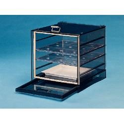 Bel-Art - 420530001 - Bel-Art 42053-0001 Space-saving Desiccator; Polystyrene; exterior dimensions, 9'W x 9'H x 8'D