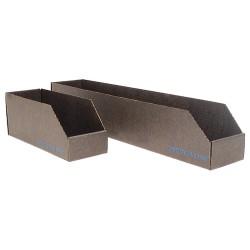 Protektive Pak / Desco - 37107 - Corrugated Shelf Bin, 200 lb. Test Rating, Black, 4-1/2H x 18L x 4W, 1EA