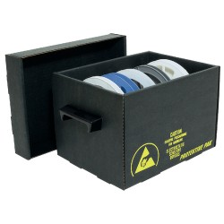 Protektive Pak / Desco - 37560 - Closed Reel Storage Container, 13 IN Reel, 13-1/2 x 12 x 13-1/4 IN, 343 x 305 x 337 MM