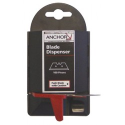 Anchor Brand - 102-AB-11-100 - Anchor .024 Steel Trapezoid Blade Dispenser (For Use With AB-99 And AB-2600) (100 Per Pack), ( Package )