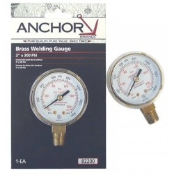 Anchor Brand - 100-B25200 - Anchor 2-1/2x200 Brass Replacement Gauge, Ea