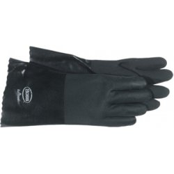 Boss / Cat Gloves - 121-1SP0714 - Jersey Lined Black PVC Coated Gloves (Pack of 12)