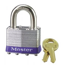 Master Lock - 470-1DCOM - No. 1 Laminated Steel Pin Tumbler Padlocks (Pack of 4)