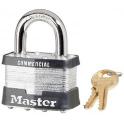 Master Lock - 470-5DCOM - No. 5 Laminated Steel Pin Tumbler Padlocks (Pack of 4)