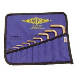 Ampco Safety Tools - 065-M-42 - 10 Piece Allen Key Sets (Pack of 1)