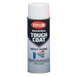 Krylon - A01110 - Tough Coat Rust Preventative Spray Paint in Gloss OSHA Red for Metal, Steel, 12 oz.
