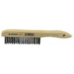 Anderson Brush - 066-34561 - Bent Handle Scratch Brush W/scraper, Ea