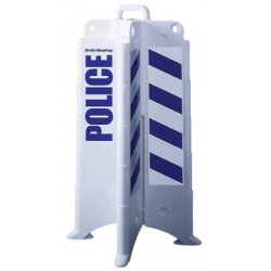 Eagle Mfg - 258-1830POLICE - 00239 Quick Deploy Barricade White W/police Shee, Ea