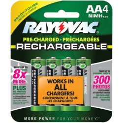 Rayovac - 620-LD715-4OP - NiMH Pre-Charged Rechargeable Batteries (Each)