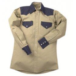 Lapco - 160-KD-19 - 9510D Khaki/Blue Denim Shirts (Each)