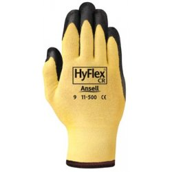 Ansell-Edmont - 1150010 - Ansell Health HyFlex Nitrile Gloves - 10 Size Number - Nitrile - Yellow - Abrasion Resistant, Knit Wrist, Latex-free - 2 / Pair