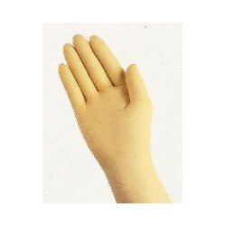 """Ansell-Edmont - 398702 - Ansell Size 6 Yellow 12"""" AccuTech 870 8 mil Natural Latex Hand Specific Sterile Powder-Free Disposable Gloves With Bisque Finish And Straight Cuff"""