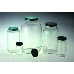 Berlin Packaging - GLC-01885 - Standard Wide Mouth Bottles, Vacuum and Ionized, Clear, Qorpak (Case of 4)