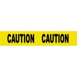 National Marker - PT25 - NMC 3 X 1000' Black/Red 3 mil Polyethylene Barricade Tape DANGER DO NOT ENTER, ( Roll )