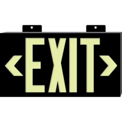 National Marker - 7310 - NMC 7 1/2 X 13 Red 0.075 Plastic GloBrite Frameless Single Face Sign Exit With Wall Mounting, ( Each )