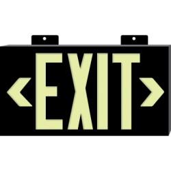 National Marker - 7320 - Sign Exit Unframd Grn Globrite. (each)