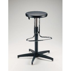 Biofit - 158703 - Rotating Stool Metal Black Enamel Finish Rotating Stool Metal Black Enamel Finish (each)