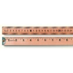 Aakron Rule - 100490 - Wooden Meter Sticks Meter Stick, Hardwood, w/ Plain Ends, Metric & English Scales, 1 m; 3' (Each)