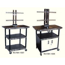 Luxor / H Wilson - LEB54WTUD - Luxor Plasma/LCD Carts Plasma/LCD Carts, 42W x 24D x 54H, 3 Shelves, 99 lbs. (Each)