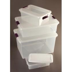 Sterilite - 16428012 - Storage Tote, Clear/White, 4-7/8H x 13-5/8L x 8-1/4W, 1EA