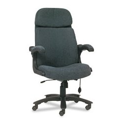 Mayline - MLN6446AGBLT - Mayline Big & Tall Series Executive Swivel/Tilt Chair with Upholstered Arms (Each)