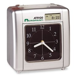 Acroprint Time Recorder - ACP010212000 - Acroprint Model ATR120 Time Clock for Weekly/Biweekly Pay Periods (Each)