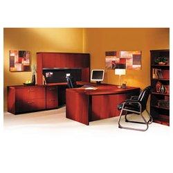 Mayline - MLNABD7242LCR - Mayline Aberdeen Series Bow Front Desk Shell (Each)