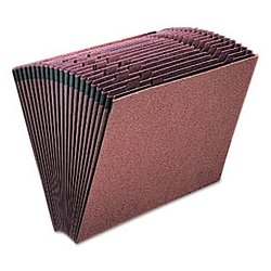 Esselte Pendaflex - ESSER17A - Esselte A-Z Recycled Expanding File - Letter - 8 1/2 x 11 Sheet Size - 21 Pocket(s) - Fiber - Red Fiber - Recycled - 1 Each